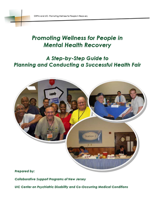 Graphic of the Health Fair Manual's cover