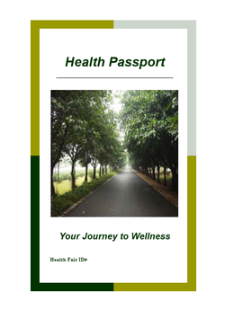 Graphic showing Health Passport cover