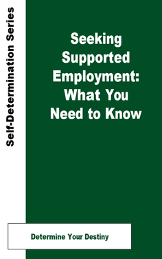 Graphic showing Seeking Supported Employment cover