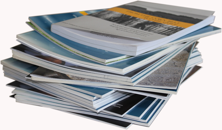 Image of a stack of academic journals