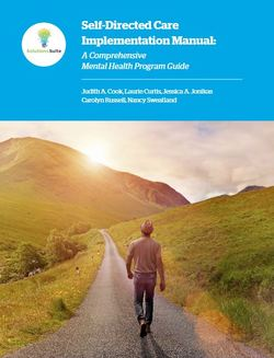 Graphic showing Self-Directed Care Manual cover